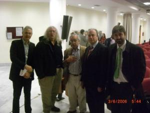 Stephen Downes, Alejandro Piscitelli, Carlos    Merino, Josep Lozano y Jesus Martinez en CEJFE en 2006